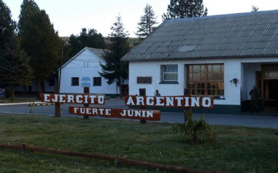 The military base of Junin de los Andes